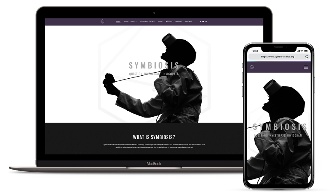 Responsive Web and Graphic Design Preview for Symbiosis